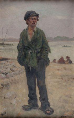 "Jozef Rapacki (1871 - 1929), ""rascal"", Oil On"