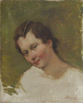 Jan Berger (1863 - 1930), Portrait Of A Woman, 1904,