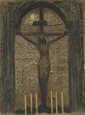 Leon Wyczolkowski (1852 - 1936) Crucifix Of Queen-saint