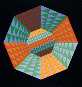 Victor Vasarely (1906 - 1997) Untitled Silkscreen,