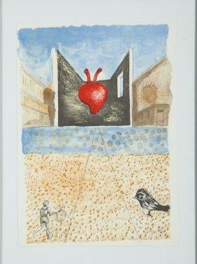 Jan Lebenstein (1930 - 1999) Landscape With Heart,
