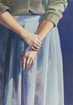 Anna Wostruchowaite (b. 1995) Gesture, 2016, Oil On