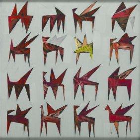 Jakub Szymanski (b. 1970) Pegasus, 2015, Acrylic On