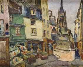 Mela Muter (1876 - 1967), Little Town In Bretagne, Oil