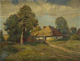 Franciszek Jurjewicz (1849 - 1924), Landscape With A