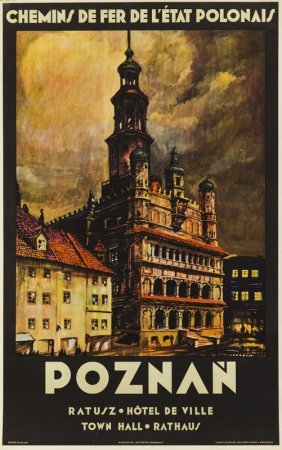Stefan Norblin (1892 - 1952) Poznan, 1930; Offset On