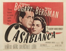 Casablanca, 1949; Coloured Lithography On Paper, 55.5 X