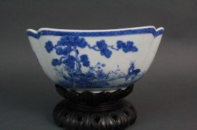 18th Century Chinese Blue & White Porcelain Bowl