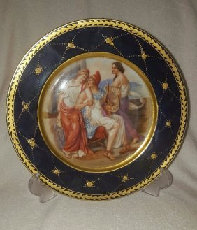 Antique Royal Vienna Porcelain Plate