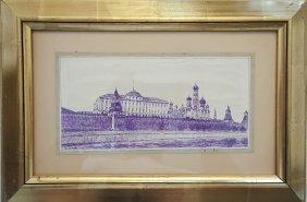 Konstantin Youn Russian ( 1875 - 1958 ) Drawing