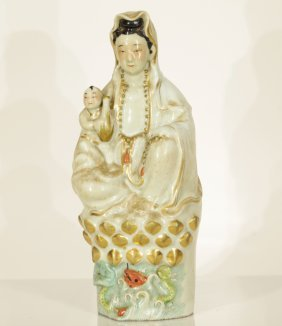 20th C. Chinese Porcelain Guanyin