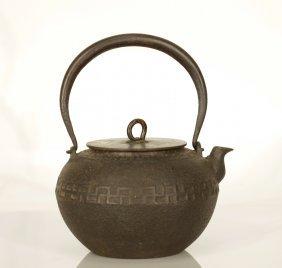 Japanese Iron Teapot, Marked