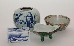 4 Pieces Of Asian Porcelain Antiques
