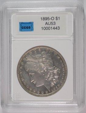 1895-o Morgan Silver Dollar, Ccgs Au Key Date!