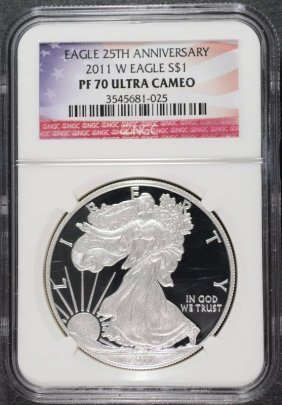 2011-w 25th Anniversary American Silver Eagle, Ngc