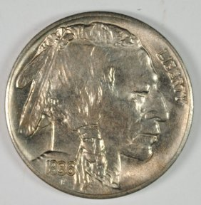 1936-s Buffalo Nickel, Gem Bu Blazer