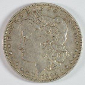 1894-o Morgan Silver Dollar, Au Key Coin
