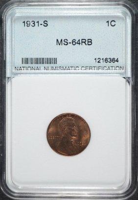 1931-s Lincoln Cent, Nnc Gem Bu Key Coin!
