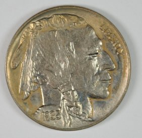 1935 Buffalo Nickel, Gem Bu