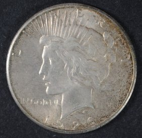1926 Peace Dollar Ch Bu Toned