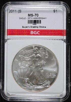 2011-s American Silver Eagle 25th Anniversary Bgc