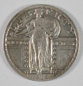 1919-d Standing Liberty Quarter, Xf Key Date