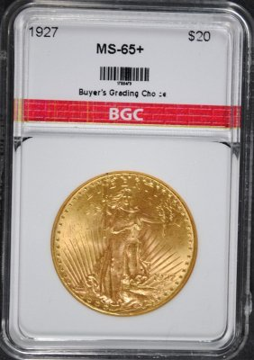 1927 $20.00 St Gaudens Gold Bgc Gem Unc