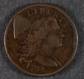 1794 Large Cent Fine+ Nice