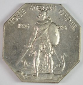 1925 Norse American Centennial Commem Silver Medal