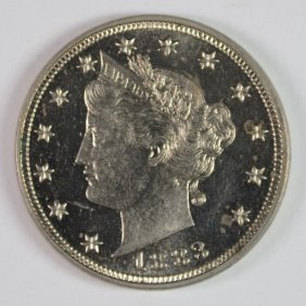 1883 No Cents Liberty Nickel Ch Pf