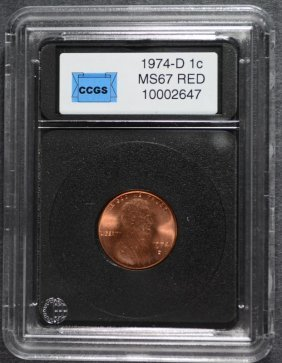 1974-d Lincoln One Cent Ccgs Gem Bu Cherry