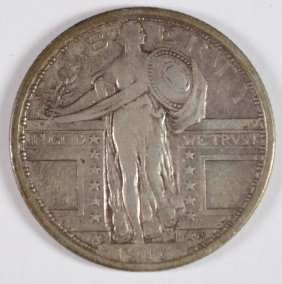 1917 Type 1 Standing Liberty Quarter Vf