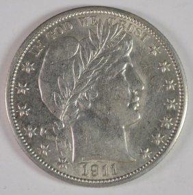 1911 Barber Half Dollar Au/bu