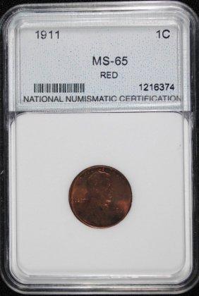 1911 Lincoln Cent Nnc Gem Red Bu