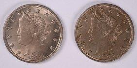 "( 2 ) Bu 1883 No Cents Liberty ""v"" Nickels"