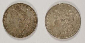 Lot Of ( 2 ) Nice Xf Morgan Silver Dollars: 1879 & 1882