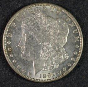 1892 Morgan Dollar Bu+