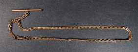 Antique Gold Pocket Watch Chain! Not Marked But Looks