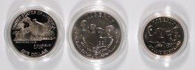Commems Box Coa: 1990 Eisenhower Proof Silver Dollar;