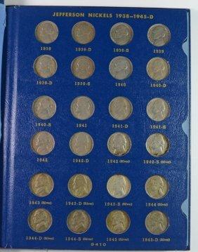 Nice Complete Jefferson Nickel Set 1938-1961 Circ