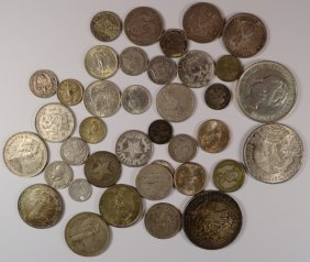 Lot Of ( 38 ) Foreign Coins, Larger Coins And Older