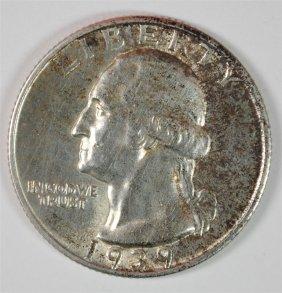 1939-d Washington Quarter, Choice Bu