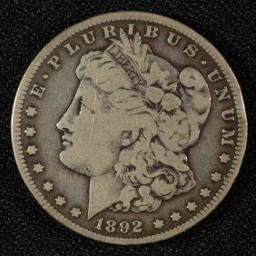 1892-s Morgan Silver Dollar Fine Key Date