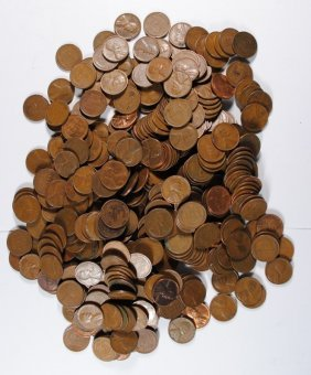 ( 1000 ) Unsearched Lincoln Wheat Cents