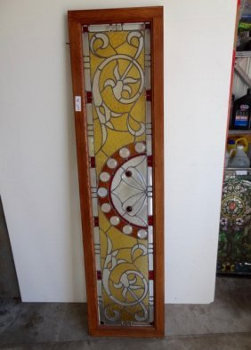 Large Ornate Stained Glass Window