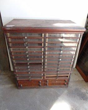 Large Spool Cabinet W/cut Top