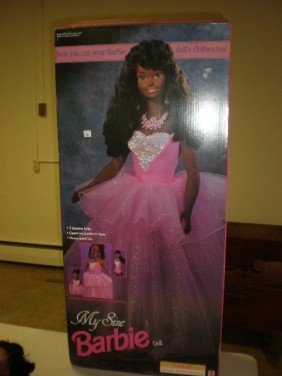 2066 My Size Barbie Doll In Original Box Black Lot 2066