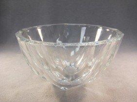 Orefors Signed Glass Bowl