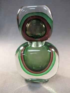 Italian Murano Green Bottle