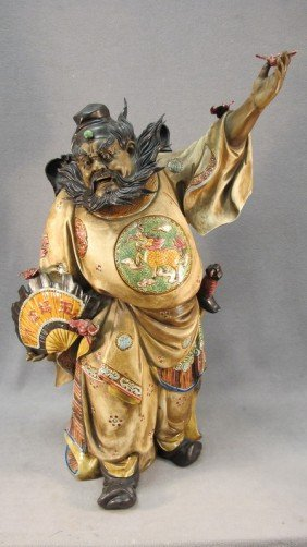 Chinese Ceramic Warrior Statue